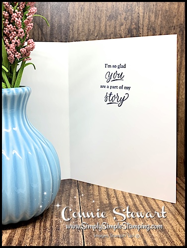 Hand Stamped Greeting on a Card by Connie Stewart