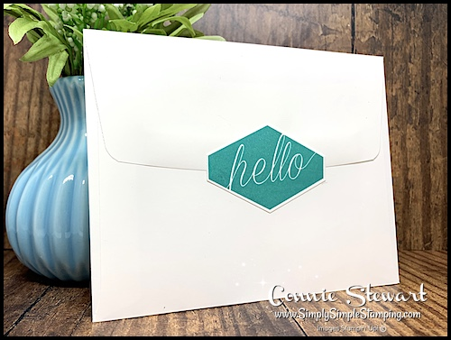 Hand Stamped Sentiment as Envelope Seal