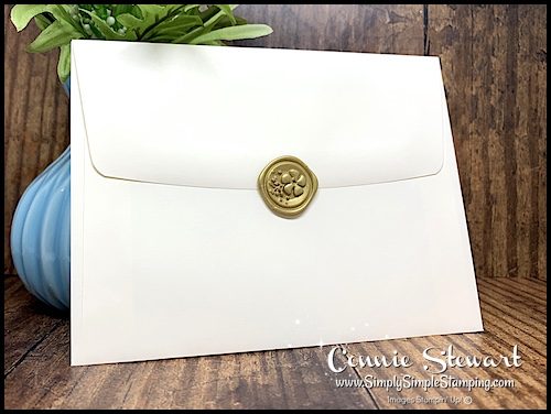 Wax Gold Seal Sticker Decorates this Envelope as a Seal