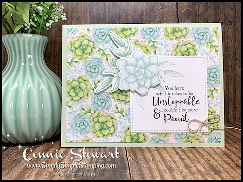 DIY Card with stamped sentiment and flowers