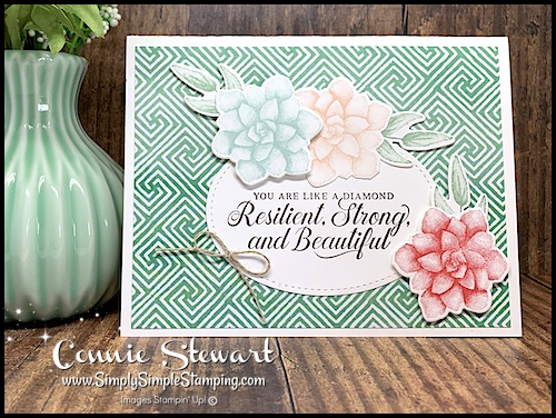 Handmade-Card-with-Stamped-Flowers-and-Resilient-Strong-Beautiful-Sentiment