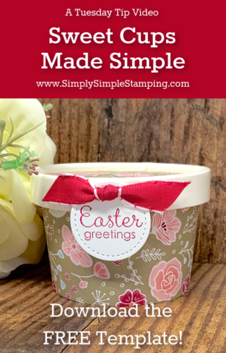 Sweet Cups Made Simple and a FREE Template | Tuesday Tip