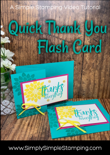 Quick Thank You Flash Card | Simple Stamping video