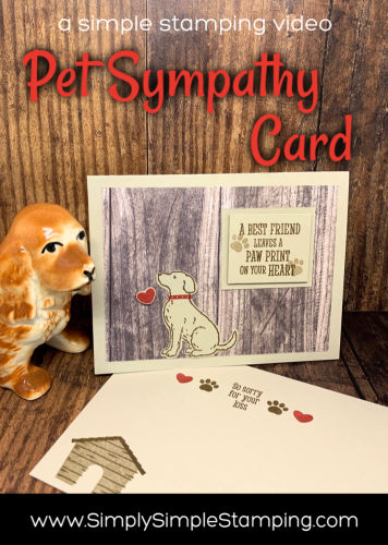 Pet Sympathy Card | Simple Stamping video