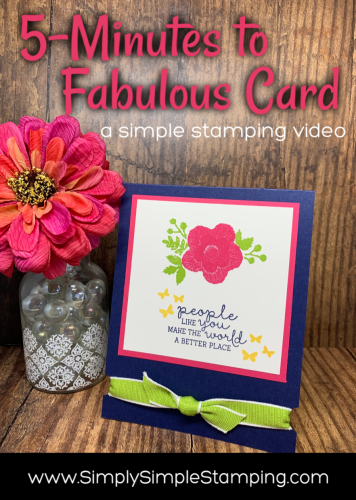 5 minutes to Fabulous Card | Simple Stamping