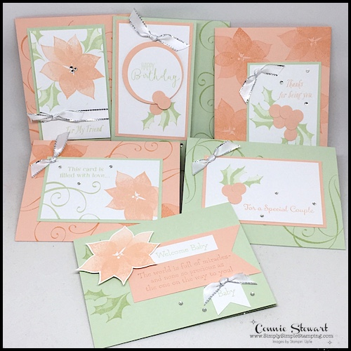All-Occasion-Cards-Handmade-with-Peach-and-Green-Color-Tones