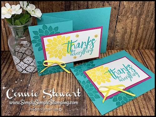 Quick-Thank-You-Flash-Card-Simple-Stamping-Style-in-Bermuda-Bay-and-Bright-Yellow-Colors