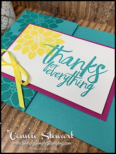 DIY-Thank-You-Card-with-Bright-Hand-Stamped-Yellow-Flowers-on-Bermuda-Bay-Card-Stock-Base