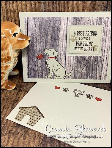 Handmade-Card-with-Dog-Red-Collar-and Paw-Print-Heart-Greeting