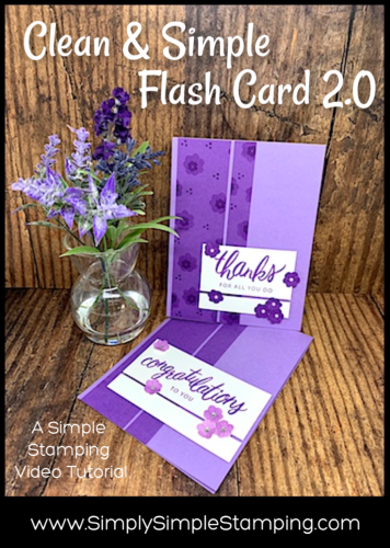 Clean & Simple Flash Card 2.0 | Simple Stamping