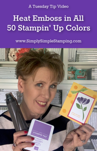Heat Emboss in all 50 Stampin' Up Colors