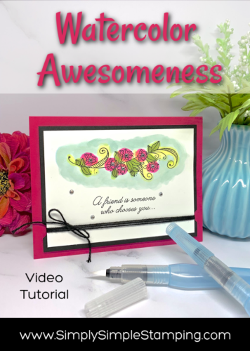 Watercolor Awesomeness: How to Make an Easy Card for Friends