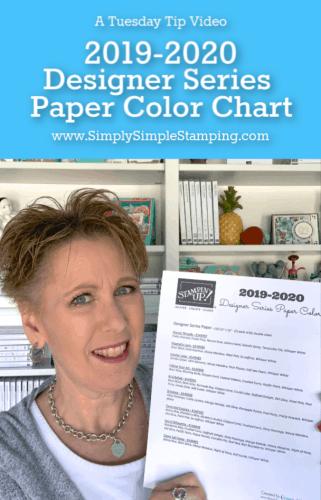 Free Download! Designer Series Paper Color Chart 2019-2020