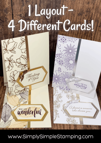 Wow! Make 4 Greeting Cards with 1 easy layout
