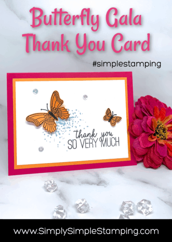 How to Make a Thank You Card with Simple Stamping