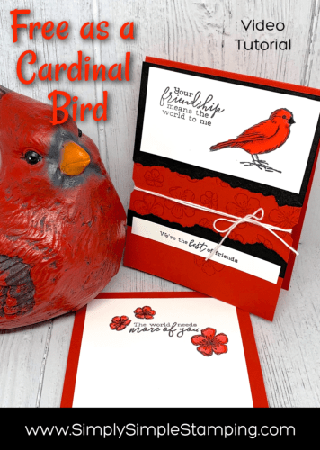How to Make A Cardinal Card Using The Flash Card System