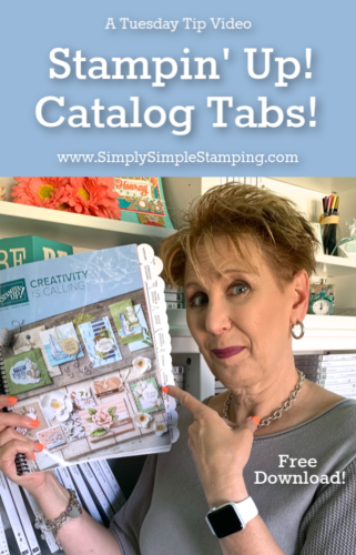 Stampin' Up Catalog Tabs & Free Download!