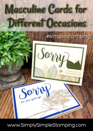 Double Feature – Masculine Cards to Make this Week