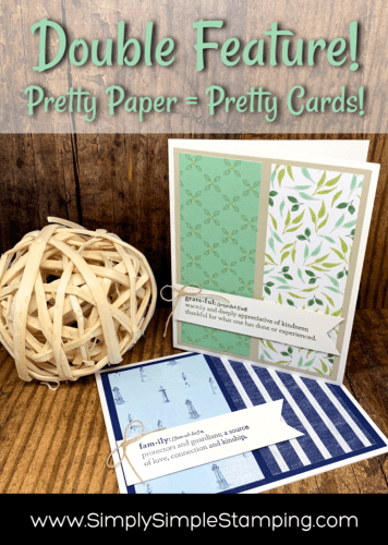 Pretty Paper Makes Pretty Cards | Double Feature| Simple Stamping