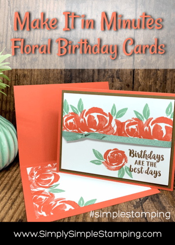 How to Make Floral Cards in Minutes | Make it in Minutes