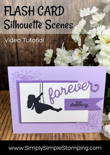 Silhouette Scenes Greeting Card You Can't Resist | Flash Card