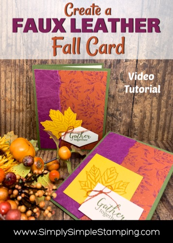 How to Get A Simple Faux Leather Look on Greeting Cards