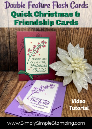 2 Greeting Cards You Can Make: Friendship & Christmas Card | Flash Card Series