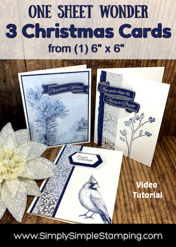 3 Beautiful Christmas Cards | One Sheet Wonder