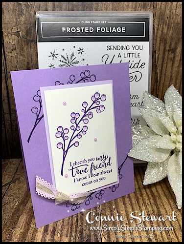 2-Greeting-Cards-Handmade-Friendship-Holly-Berries-Card-in-Purples