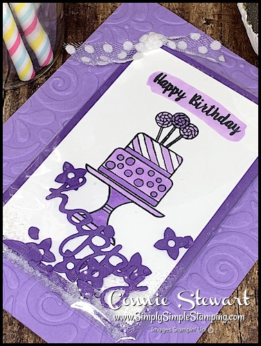 Easiest-Shaker-Card-Handmade-Birthday-Card-Cake-on-Purple-Card