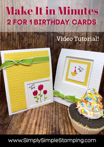 Super 2 For 1 Handmade Birthday Card Ideas Make It In Minutes Funny Birthday Cards Online Inifofree Goldxyz