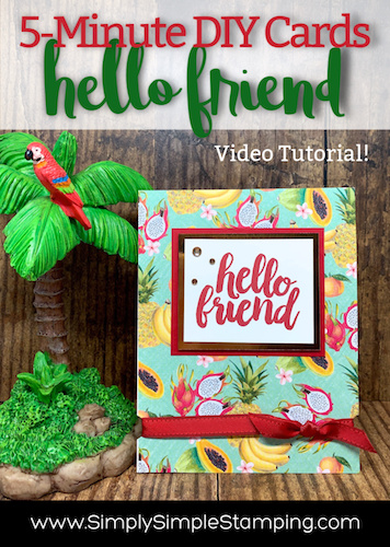 How To Make A 5 Minute DIY Card For A Friend