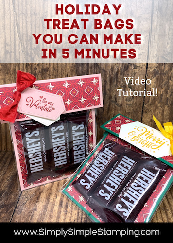 A Holiday Treat Bag that You can Make in 5 Quick Minutes