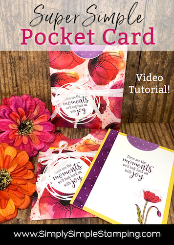 How to Make a Super Simple Pocket Card | Pocketful of Poppies