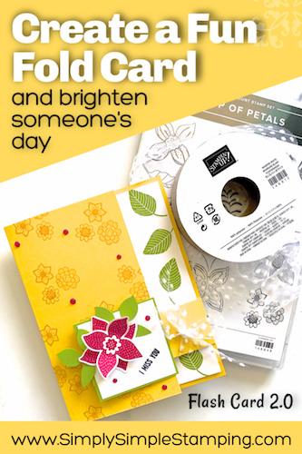 A Fun Fold Flap Card That's Bright & Cheery | Flash Card 2.0 Series