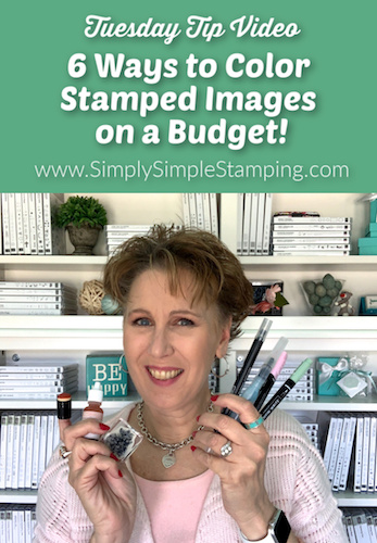6 Ways to Color Stamped Images on a Budget