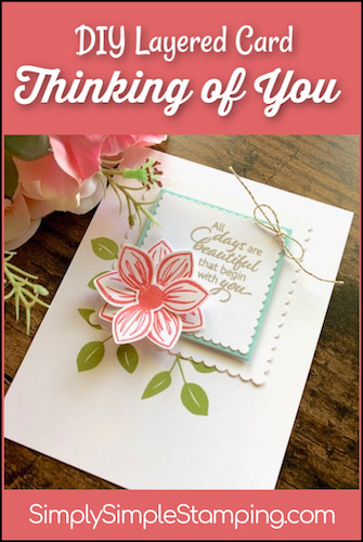 Card Making Fun With Easy Die Cut Squared Layers