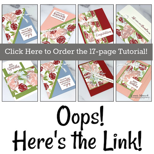 Missing Link to the One Sheet Wonder Tutorial