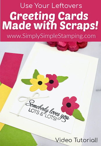 How to Use Your Paper Scraps to Create a Card