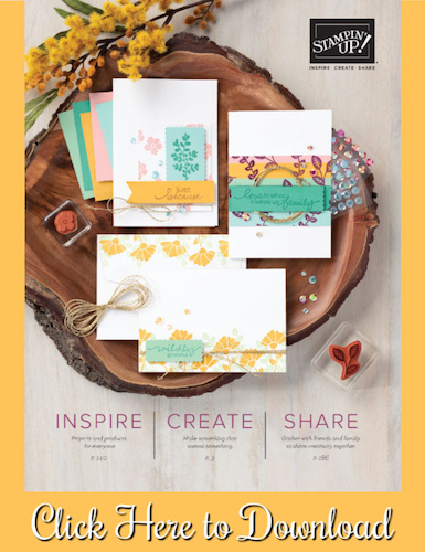 The New Stampin' Up Catalog is NOW LIVE!